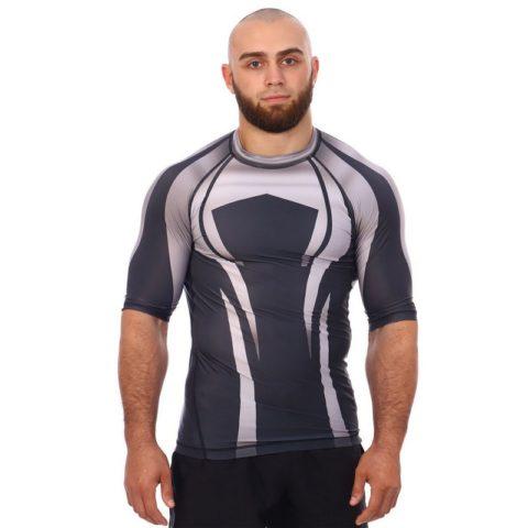 Рашгард с коротким рукавом / BARRACUDA Sport Gray